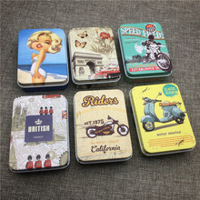 Fashion Tin Storage Box Classic Style Rectangle Small Boxes Sealed Tobacco Humidor Packing Case Jewlery Cans Coin Organization