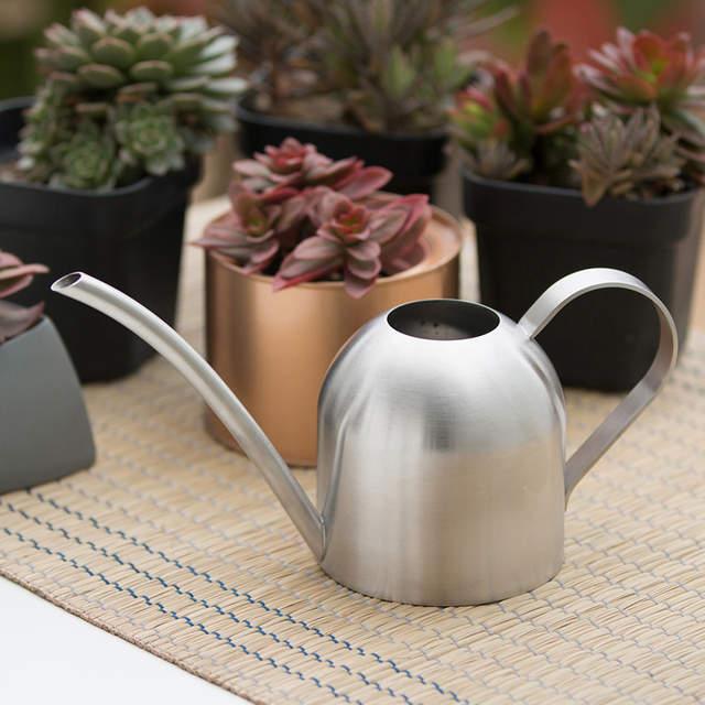 Stainless Steel Watering Pot Garden Pot Small Watering Pot Indoor