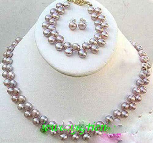 ¡Lo más vendido! juego de aretes de collar de perlas FW