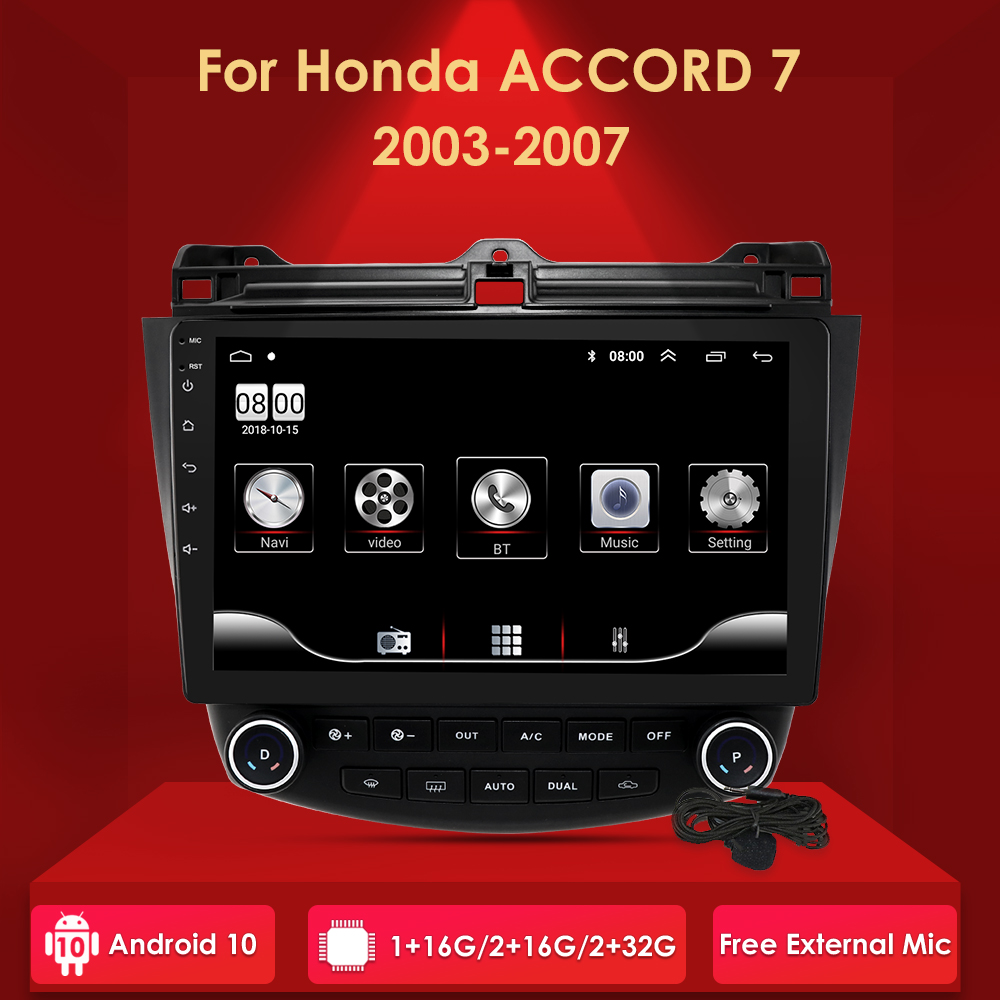 <font><b>Android</b></font> 10 2 din Car <font><b>Radio</b></font> For <font><b>Honda</b></font> <font><b>Accord</b></font> 7 2003-2007 Car <font><b>Radio</b></font> Multimedia Video Player Navigation GPS no dvd with BT SWC image