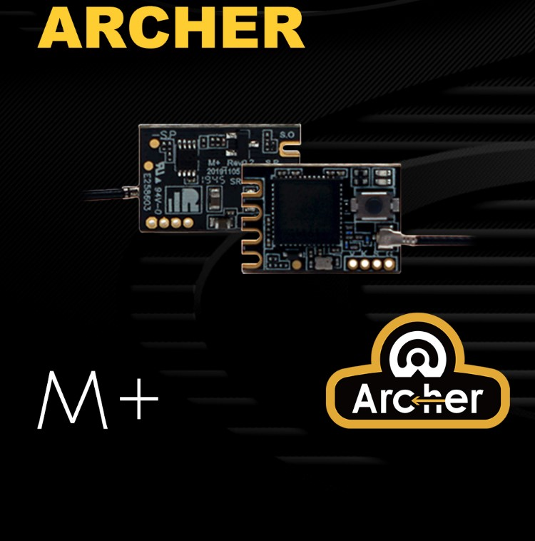 FrSky ARCHER M+ Mini Receiver 16CH / 24CH S.Port/F.Port ACCESS Protocol With OTA For FrSky AC