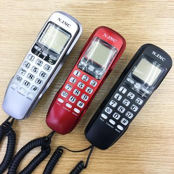 Mini Wall Mount LCD Display Caller ID Telephone Home Office Hotel Landline Phone 2020