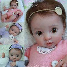 Новое поступление, комплект кукол-реборн 17 дюймов, Реалистичная мягкая на ощупь, свежий цвет, неокрашенные детали куклы-реборн Layla
