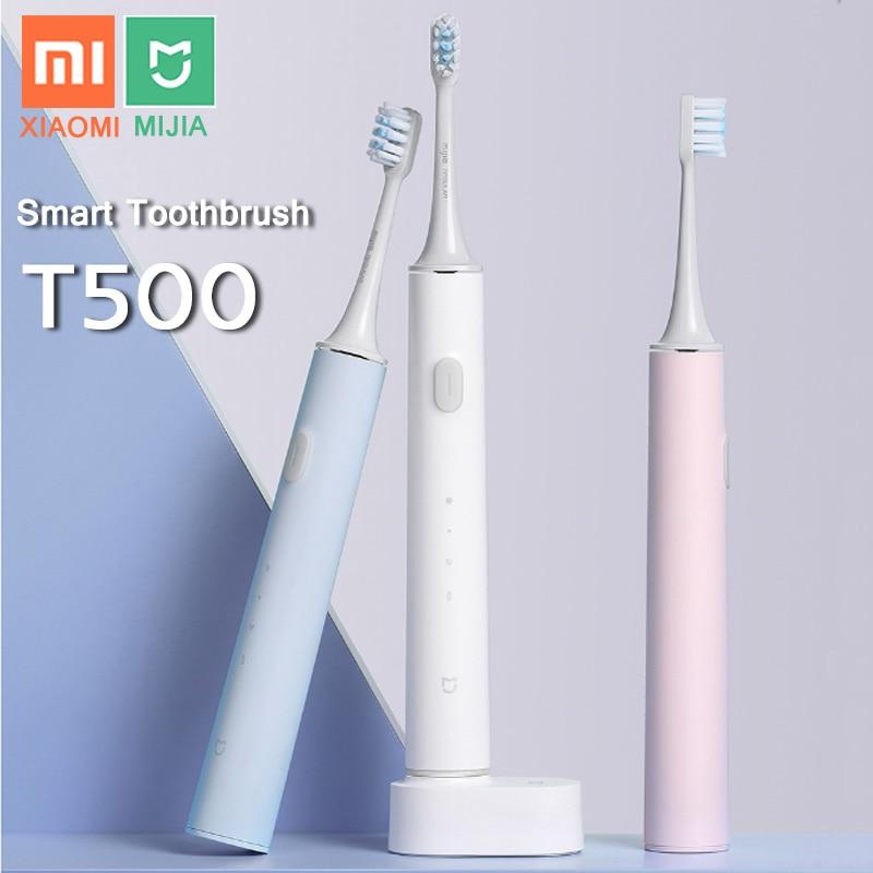 XIAOMI MIJIA T500 Electric Toothbrush Smart Sonic Brush Ultrasonic Whitening Teeth vibrator Wireless Oral Hygiene Cleaner