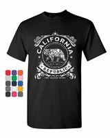 California Republic Flag T Shirt CA Cali State Grizzly Bear Star Mens Tee Shirt Fashion Style Men Tee,Gift Print T shirt