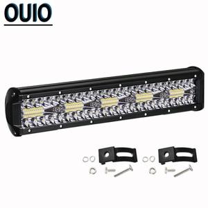 Image 4 - 300W 12 Inch LED Bar Ô Tô Offroad Xe Đèn Sương Mù Đèn 12V Combo Xà Đơn Đèn Pha Làm Việc cho Ánh Sáng SUV ATV Xe Kéo Xe Tải Đầu Kéo
