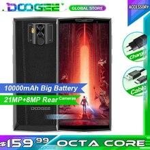 Doogee N100 โทรศัพท์มือถือ 10000 mAh แบตเตอรี่ 5.9 นิ้ว FHD + จอแสดงผล 21MP + 8MP กล้อง 4GB RAM 64GB ROM OCTA Core MT6763 4G สมาร์ทโฟน