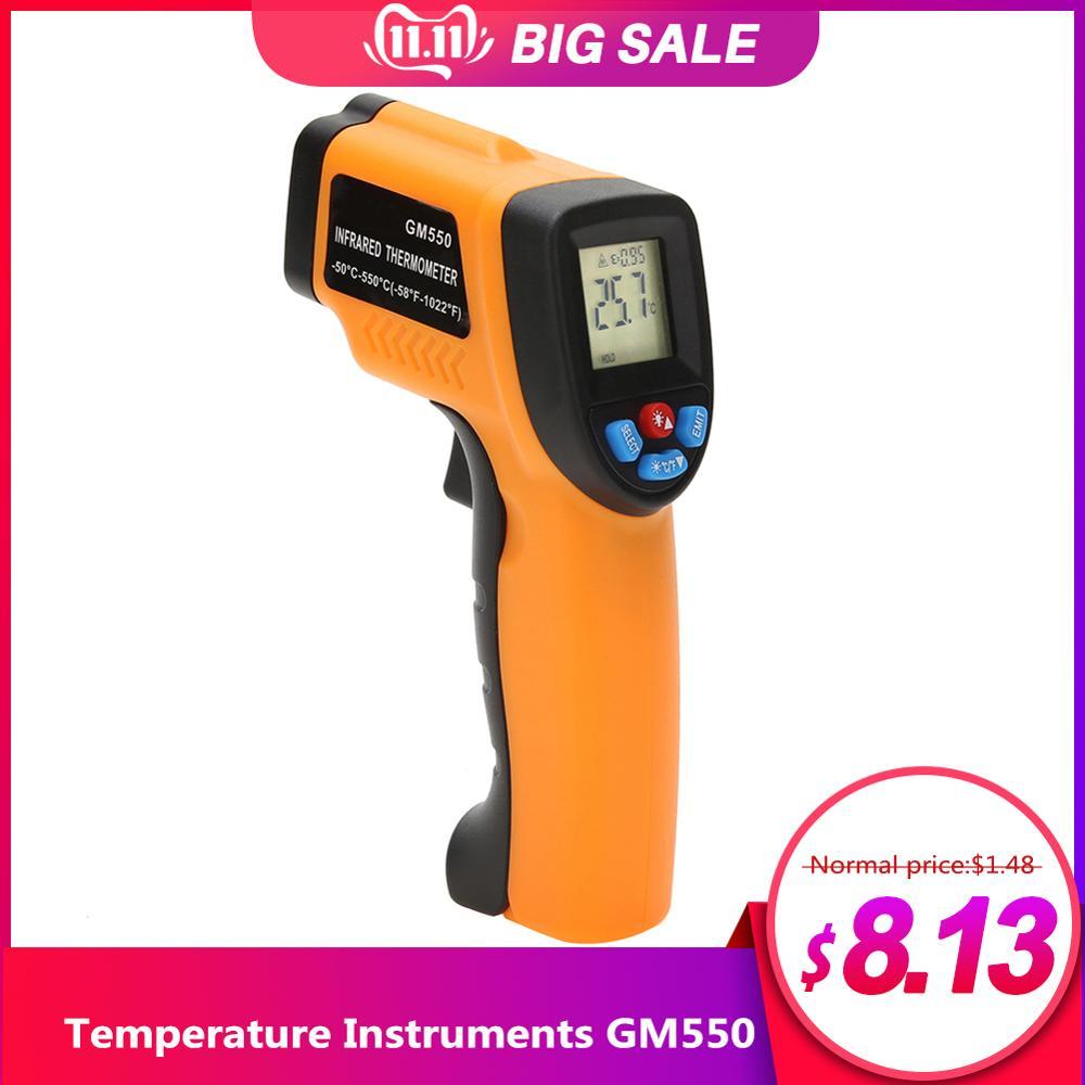 Gm550-50 550 c termômetro infravermelho digital pyrometer aquário termômetro termodetector ao ar livre #35