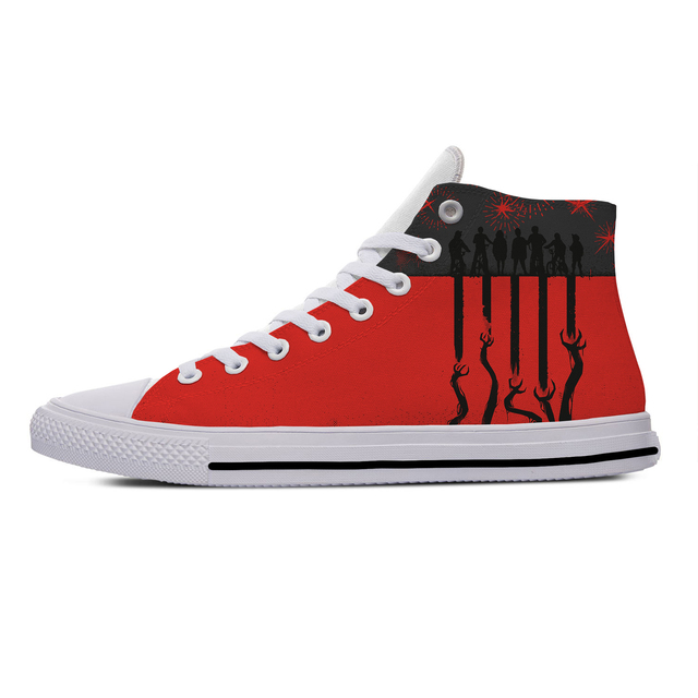 STRANGER THINGS THEMED HIGH TOP SHOES (5 VARIAN)
