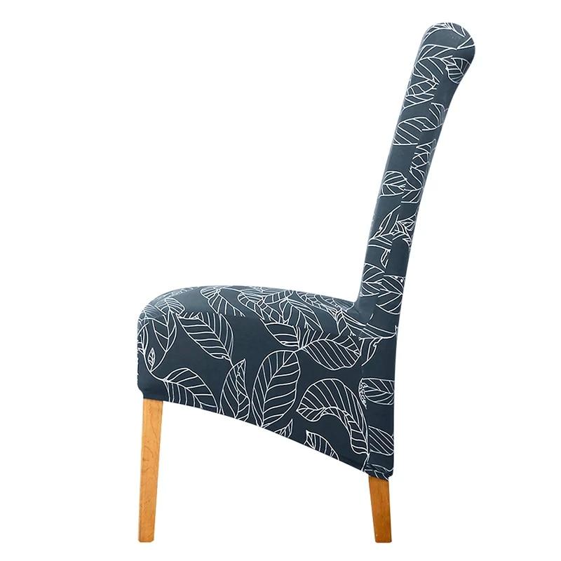 lellen housse de chaise elastique de grande taille a dossier haut extensible pour noel hotel banquet nouveau design xl