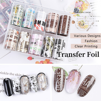 2.5*50cm Mixed Colors Nail Foils Sticker Sheets Flower Sky Series Foils Paper Roll Nail Art Transfer Decal Nail Tips Accessories image