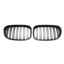 Refitting the Double-Line Bright Black Air Intake Grille for the Modified Chinese Grid for BMW 06-16 7 Series F01 F02