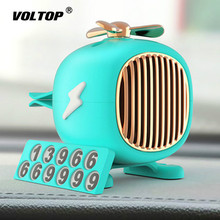 Helicopter Air Freshener Car Decoration Accessories Aromatherapy Ornaments Temporary Parking Number Plate Perfume