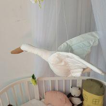 Cute Swan Wall Hanging Pendants 3D Animal Toy Kids Room Ornament Nursery Decor 24BE