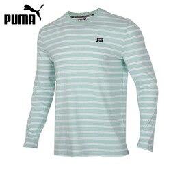 Original nueva llegada PUMA Centro de manga larga Camiseta de los hombres Camisetas manga larga ropa deportiva