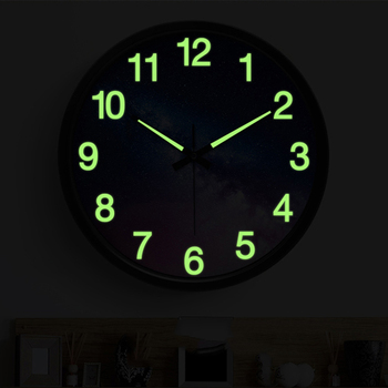 Luminous Large Wall Clock Modern Design Electronic Creative Starry Sky Wall Watches Home Decor Blue Metal Horloge Murale Gift