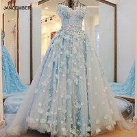 LS65321 Arabic Evening Gown Dresses Abendkleider Abiti Da Cerimonia Da Sera Sweetheart Light Blue Lurxurious Evening Party Dress