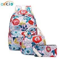 Scuola di stile coreano zaino per adolescenti ragazza zainetto zaino sacchetti di scuola dei bambini per le ragazze bookbag sacchetto di scuola dei bambini set regalo