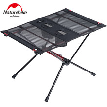Naturehike Lightweight Collapsible Aluminum Portable Roll Up Outdoor Folding Camping Table Patio Metal Foldable Picnic Table(China)