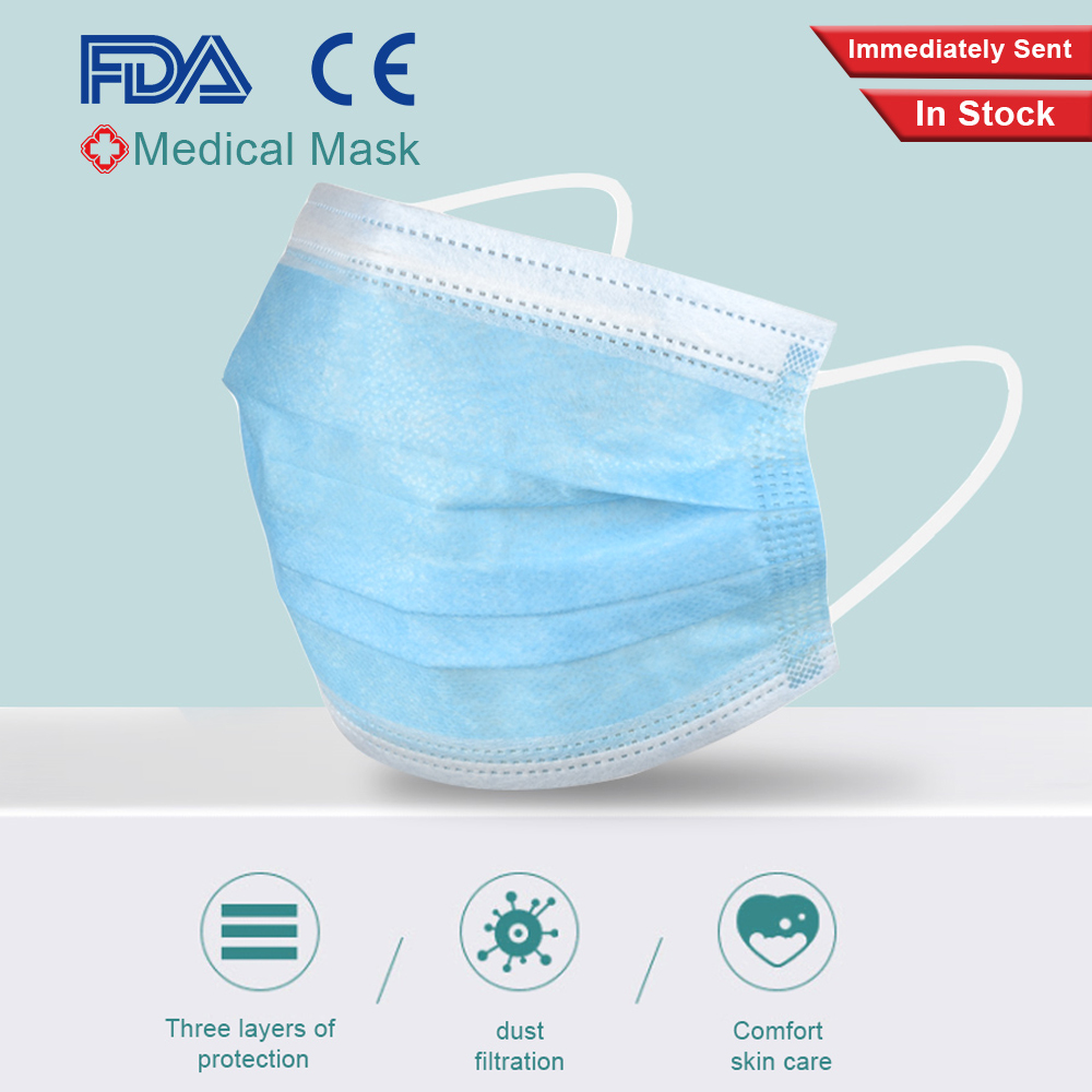 10/20/50 Pieces Medical Masks Surgical Masks 3 Layer Disposable Earloops Masks Breathing Safety Face Mouth Masks Anti-Dust