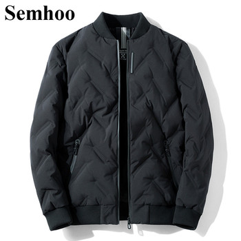 2019 New Men's Winter Down Jackets Casual Thick Warm White Duck Down Jacket Men Stand Collar Solid Color Fashion Simple Mens