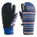 BOODUN Winter Snow Snowboard Gloves for Women Ski Gloves Windproof Waterproof Non-slip Skating Skiing Gloves Cotton Warm Mittens