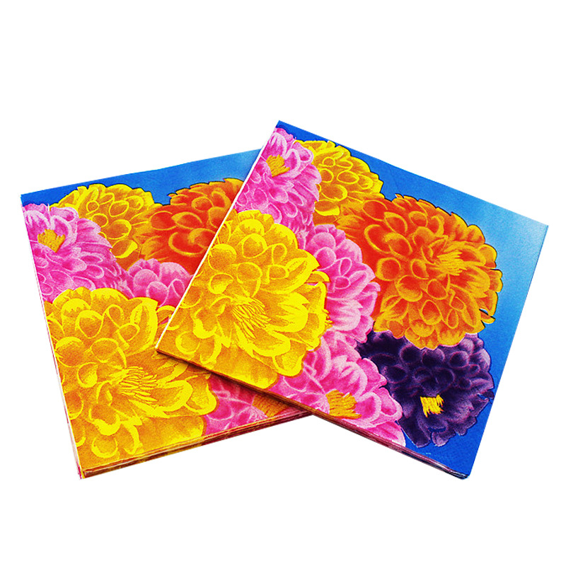 [Currently Available] Manufacturers Direct Selling Color Printed Napkin Creative Tissue Napkin