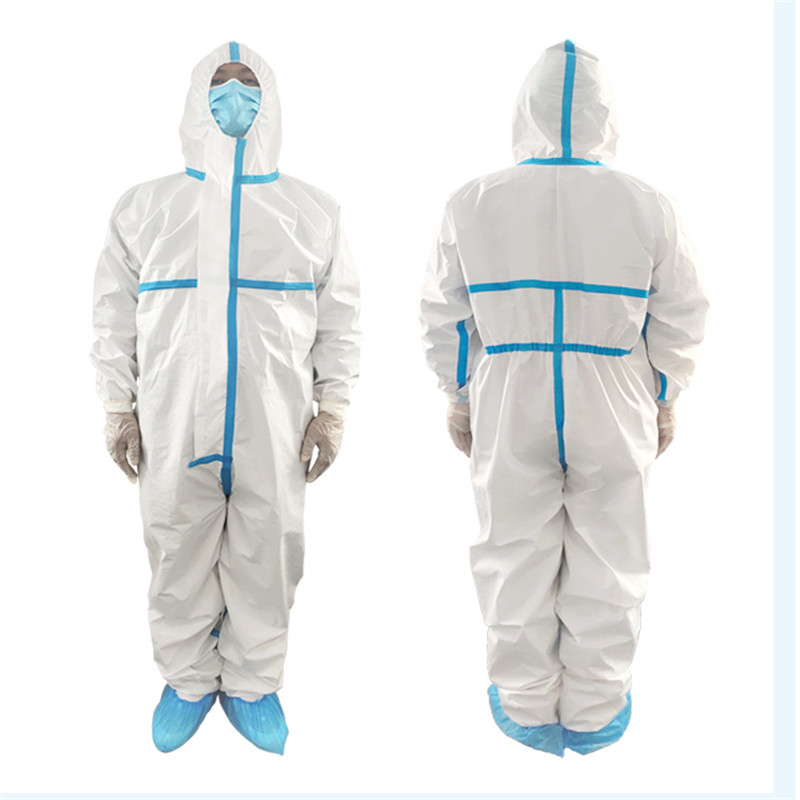 Professional Hooded Protective Clothing Antibacterial Anti-Virus 마스크 Chemical Protective Dust-proof Clothing Virus Protection