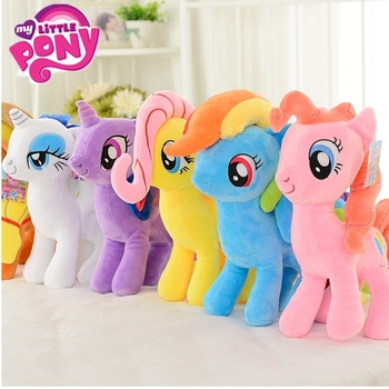 20cm My Little Pony Stuffed pony toy Doll Rainbow Dash Unicorn Toys Rainbow Horse Cute Little Horse Girl Birthday Christmas Gift my little pony 22cm toy stuffed pony toy doll pinkie pie rainbow dash movie