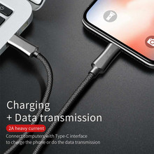 Nylon trenzado tipo C Cable USB C 8pin se convierte a C-cable PD 18W datos de carga rápida adaptador de Cable para IPhone X XR XS MAX 8 Plus(China)