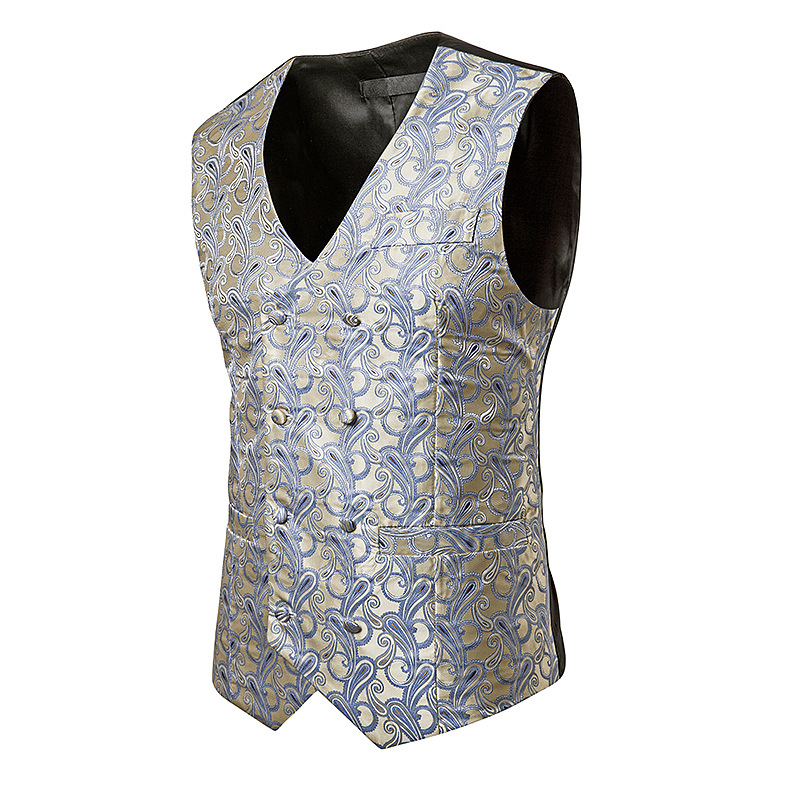 Vest Suit Blazers Wedding-Dress Waistcoat Man Casual Business Sleeveless Fashion 18-Model