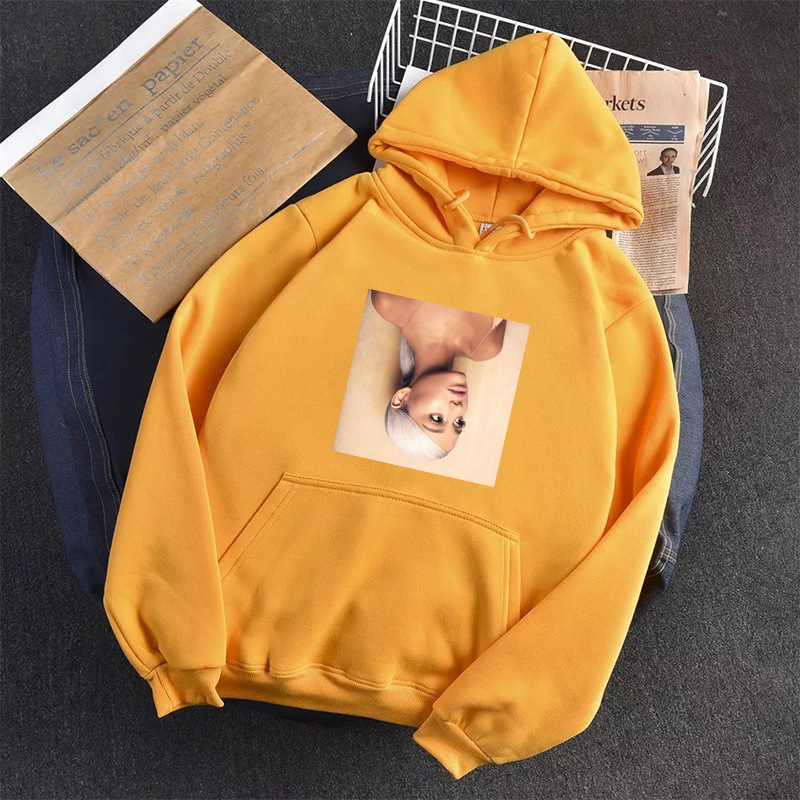 Ariana Grande Hoodies Women Sweatshirt Casual Long Sleeve Streetwear Female Autumn Winter Thicken Sweatshirts Kpop Oversize 3XL
