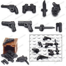 Figures American Military Mini Pistol Building Block Army Equipment Diy WW2 War Weapons Model Moc Christmas Gift Educational Toy sino japanese war world war 2 ww2 chinese eighth route army military building block toy figures brick with weapons 71008