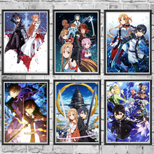 Japanese Anime Sword Art Online Canvas Painting Posters Prints Wall Decor Pictures For Living Room Aesthetic Home Decoration