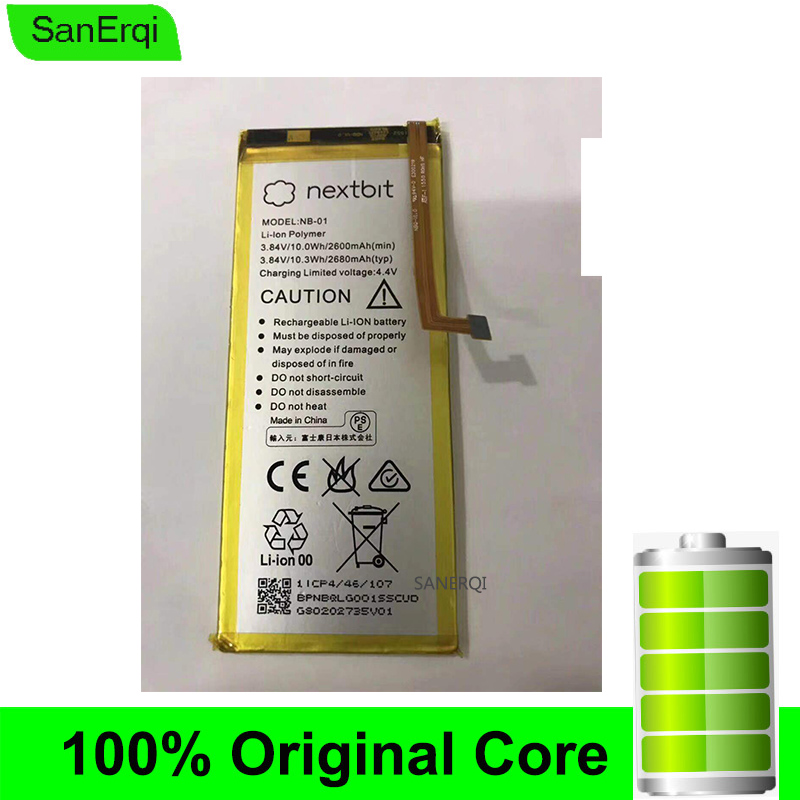 NB-01 For Nextbit Robin Battery 3.84V 2680mAh/10.3Wh Batteries Replacement High Quality