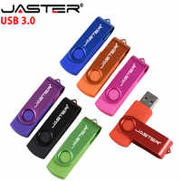 JASTER D300 USB Flash Drive 3.0 Pen Drive 128GB 64GB 32GB 16GB 8GB 4GB Rotating design Memory Stick Pendrive with free package
