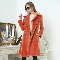 faux mink fur coat female jacket parka autumn winter coat women clothes 2020 korean vintage long warm tops manteau femme ZT4643
