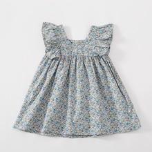 2020 Baby girls dress Sleeveless flower girl dresses Casual Flowers princess floral Dress Fashion Kids girls clothes