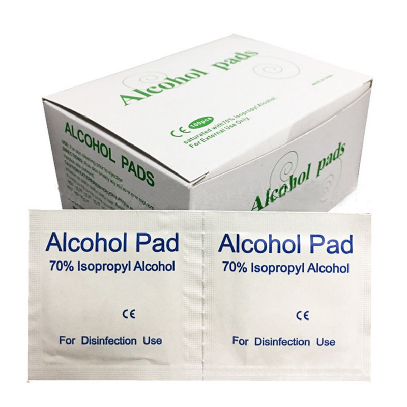 100Pcs/set Alcohol-Wet Wipe Disposable Disinfection Pad Antiseptic Jewelry Mobile Phone Clean Wipe(China)