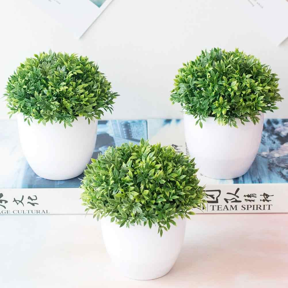 1 pc artificial grama bola verde planta bonsai miniascape festa de casamento mesa casa decoração bonsai