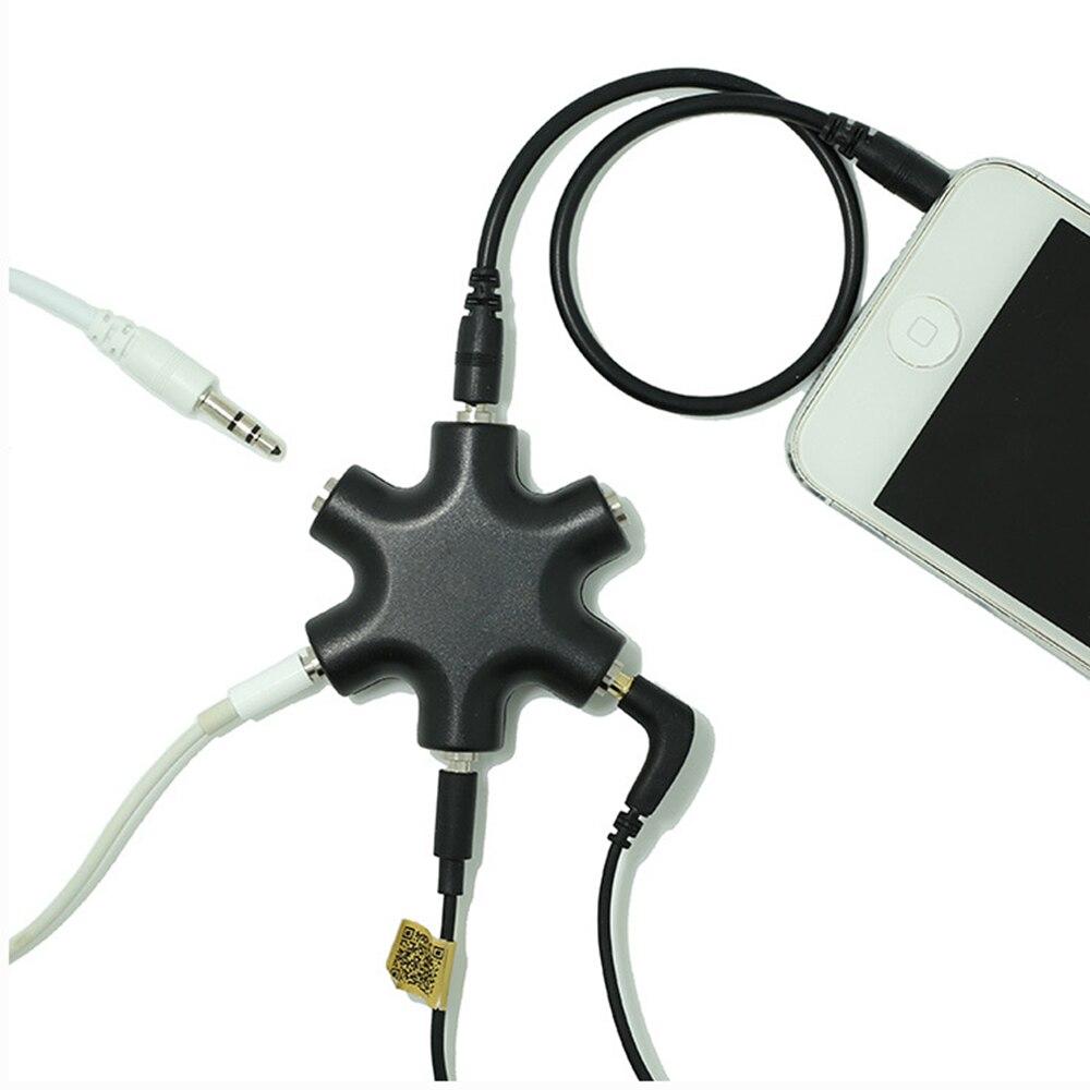 3,5 мм стерео гарнитура наушники удлинитель аудио разветвитель адаптер 1 штекер на 2 3 4 5 гнездовой аудио кабель