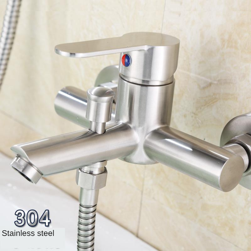 304 Stainless Steel Pearl Triple Pulling Leucorrhea Water Extractor Shower Mixing Valve Bathtub Faucet Manufacturers A Generatio