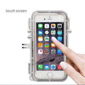 Image 4 - Duiken Waterdichte Telefoon Case Met Gopro Mount Adapter Voor Iphone 6 6S Plus 5 Shockproof Telefoon Cover Voor Gopro sport Accessoires