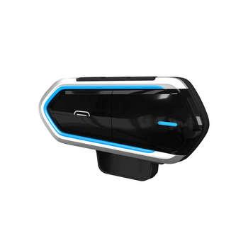 FULL-Qtb35 Bluetooth casco auriculares inalámbricos Bluetooth resistentes al agua Compatible con la mayoría de los cascos de moto Scooter Han