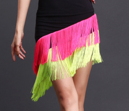 Latin Dance Skirt New Sexy Women Samba Tango Kinds Of Tassels Dresses Satge Competition Performamnce Salsa Lady Latin Dancewear