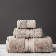 Adult Bath Towel Egyptian Cotton Strips, Used For Beach Baths, Hotel Quality, Soft Towels, Fluff And High Absorben,3Piece Sets