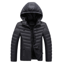 Mens Winter Zipped Warm Tracksuit Casual Long Sleeve Outwear Coat Brand Slim Coats Windbreak Jackets 8.28