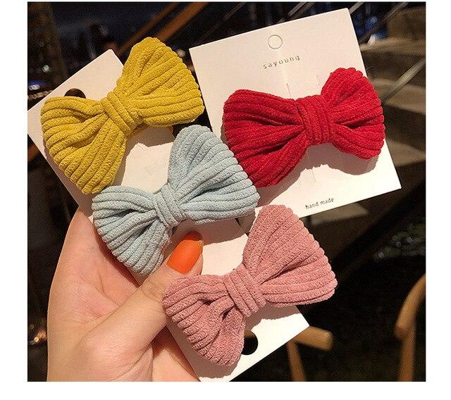 Korean childrens bow hair clip girls baby hair clip hairpin BB clip little girls hair clip kids hair accessories