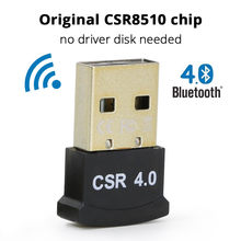 Usb bluetooth 4.0 adptador bezprzewodowa mini wtyczka bluetooth chip CSR8510 adapter transmisji Audio na PC Smart TV air mouse TV, pudełko(China)