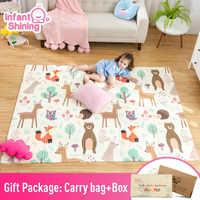 Infantile brillant bébé tapis de jeu Xpe Puzzle tapis pour enfants épaissi Tapete Infantil bébé chambre ramper tapis pliant tapis bébé tapis